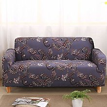 Printed Sofa Cover - Purple Abstract Flower 3D