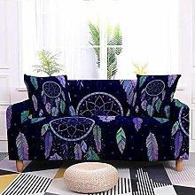 Printed Sofa Cover - Purple Dream Catcher 3D
