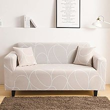 Printed Sofa Cover - Simple White Abstract Lines
