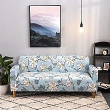 Printed Sofa Cover - White Abstract Flower 3D