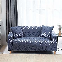 Printed Sofa Cover - White Abstract Stripes 3D