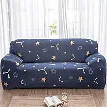 Printed Sofa Cover - Yellow Abstract Star 3D Print