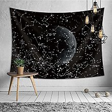 Printing Constellation Tapestry Wall Hanging Moon