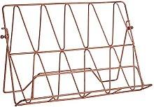 Prisma Cookbook Rack Holder Stand Copper Plated