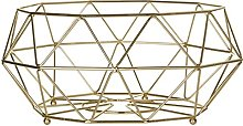 Prisma Fruit Basket Gold Plated Iron Wire For