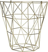 Prisma Storage Basket Gold Plated Iron Wire For