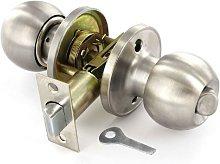 Privacy Door Handle Knob Set Stainless Steel