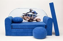 Pro Cosmo C26 Kids Sofa Bed 3-in-1 Futon with