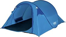 ProAction 4 Man 1 Room Pop Up Camping Tent - Blue