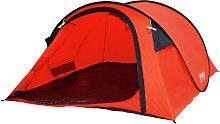 ProAction 4 Man 1 Room Pop Up Camping Tent - Orange