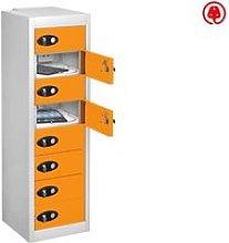 Probe Multi Door Tablet Charging Lockers, Orange