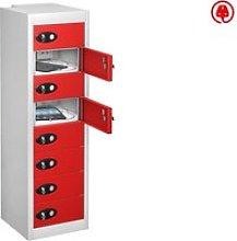 Probe Multi Door Tablet Charging Lockers, Red