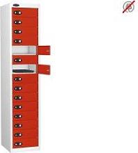 Probe Multi Door Tablet Storage Lockers, Red