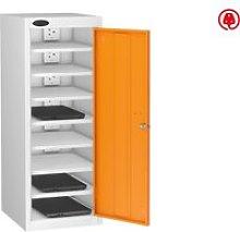 Probe Single Door Laptop Charging Lockers, Orange
