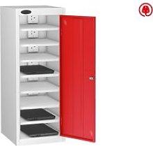Probe Single Door Laptop Charging Lockers, Red,