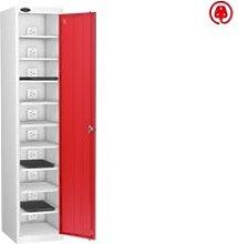 Probe Single Door Laptop Charging Lockers, Red