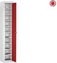 Probe Single Door Tablet Charging Lockers, Red,
