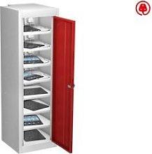 Probe Single Door Tablet Charging Lockers, Red
