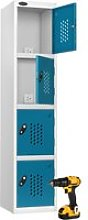 Probe Tool Charging Lockers, Silver/Blue