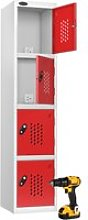Probe Tool Charging Lockers, Silver/Red