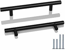Probrico 10 Pack 160mm Hole Centre Black Handles