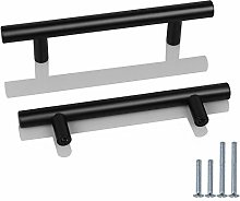 Probrico 10 Pack 96mm Hole Centre Black Handles