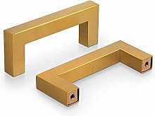 Probrico 10 Pack Kitchen Door Handles 76mm Gold