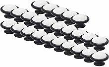 Probrico 25PCS Black Drawer Knobs Ceramic Cabinet