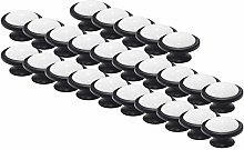Probrico 25PCS Black Drawer Knobs Ceramic Cabinet
