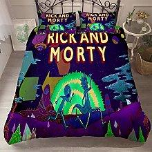 Probuk Rick and Morty UFO Bed Linen Set 100%