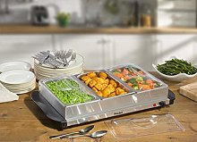 Prochef 3 Portion 200W Stainless Steel Buffet