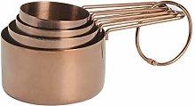 ProCook Copper Measuring Cups - Set of 4 - Nesting