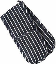 ProCook Double Oven Glove - Navy Butchers Stripe -