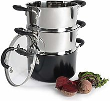 ProCook Gourmet Non-Stick Induction Steamer Set -