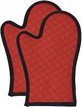 ProCook Silicone Oven Mitt Pair - Red - Heat
