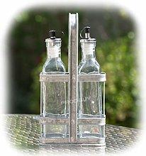 Prodbuy Set of 225ml Glass Oil & Vinegar Bottles