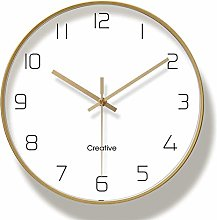 Products Gold Wall Clock, Silent Non Ticking - 12