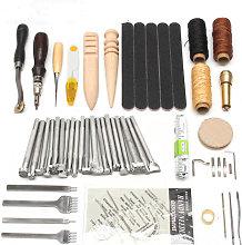 Professional 59pcs Leather Craft Tools Kit Hand