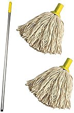 Professional Colour Coded Mop Handle and 2 Mop