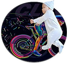Professional cyclist, Round Area Rug Pattern Round