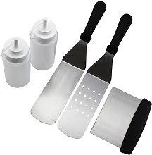 Professional Griddle Accessories Kit 5PCS BBQ Tool