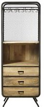 Professional Mango Wood and Metal Storage Cabinet