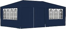 Professional Party Tent with Side Walls 4x6 m Blue