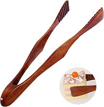 Professional Wooden Grill Tongs Durable Natural