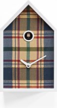 Progetti Cuckoo Clock White and Tartan Blue, One