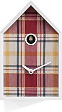Progetti Cuckoo Clock White and Tartan Red, One
