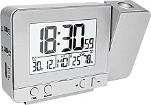 Projection Alarm Clock For Bedroom With Hygrometer