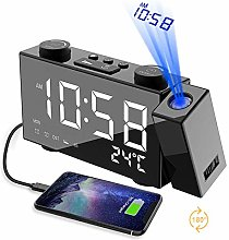 Projection Alarm Clock for Bedrooms & Travel -