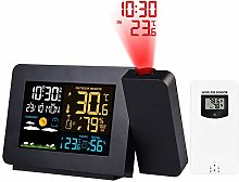 Projection Alarm Clock with Outdoor Sensor,