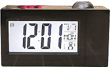 Projection Alarm Clock With Snooze Bedside Led